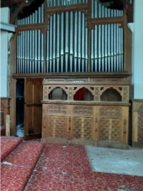 The 1906 Norman and Beard organ is off for restoration. Photo: Supplied