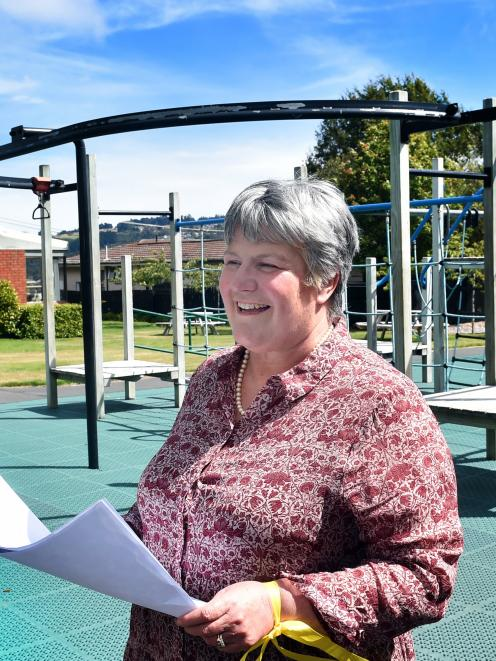 Columba College principal Pauline Duthie at the site of a new boarding facility development at...
