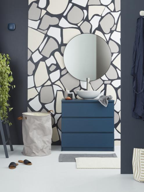 A selection of deep and dramatic blues can make a strong and stylish statement in a bathroom....