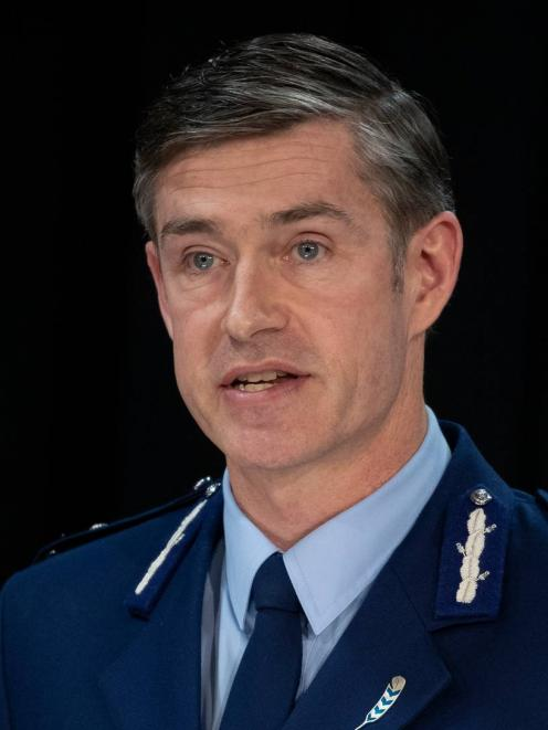 Police Commissioner Andrew Coster is too woke, according to Simon Bridges. Photo: Mark Mitchell /...