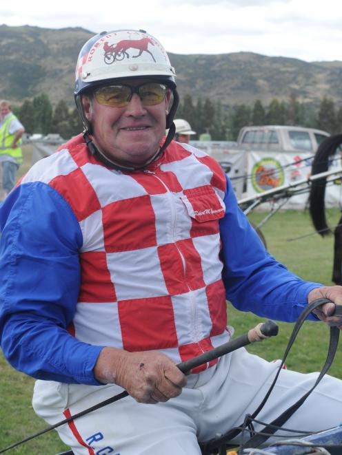 A 2009 photo of Robert Cameron still driving harness racing horses  more than four decades after...