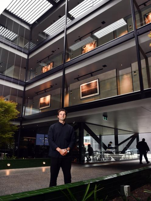 Ebb-Dunedin co-founder and development manager Dylan Cazemier at the new boutique hotel in...