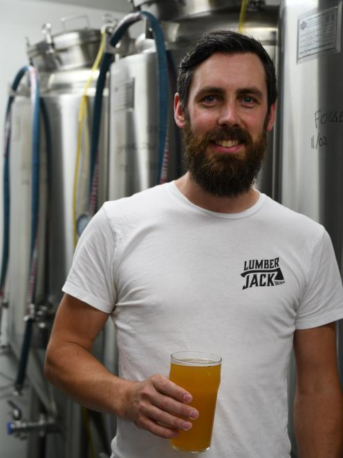 Lumberjack Brewing owner Ian O'Malley is excited for the future of his Pukehina business.