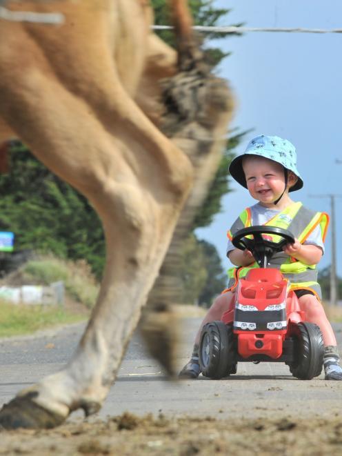 George Ramsay (1) is enjoying a rural Otago upbringing.
