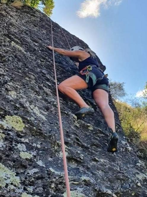 There's nothing like rock climbing to test a couple's trust in each other. PHOTO: LISA SCOTT