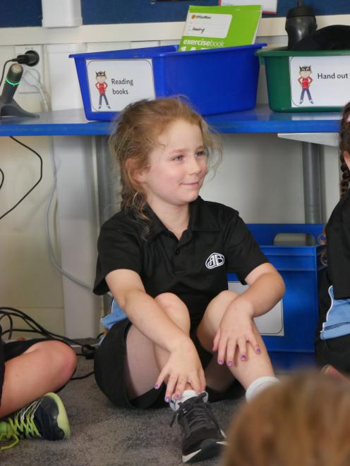 Anderson's Bay School pupil Tova Neilson (6) shared her ideas.
