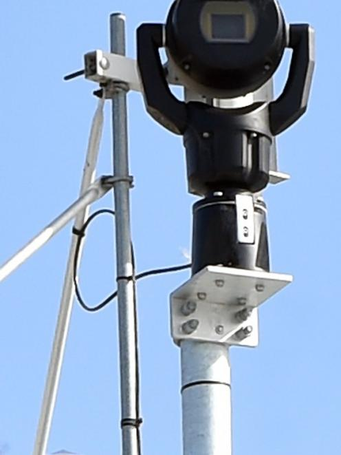A new high-quality camera sits on the roof of a house overlooking Taieri Mouth. When it is...