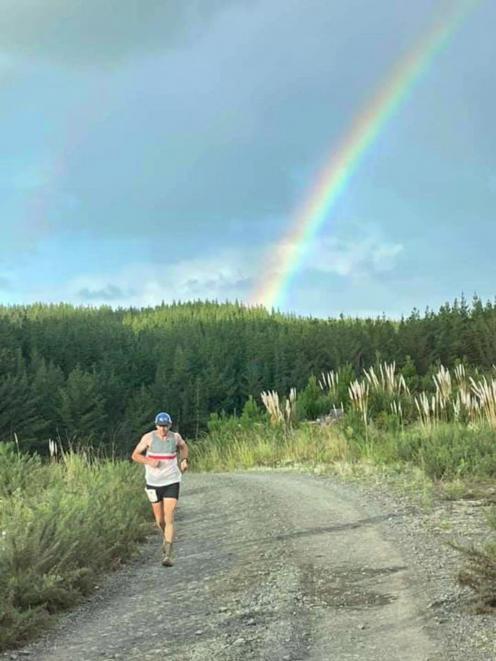 Dunedin runner Chris Bisley on his way to winning the Riverhead Backyard Ultra race in Auckland....