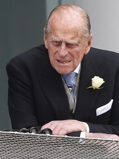 Prince Philip, the Duke of Edinburgh, attends the Epsom Derby in Epsom, south of London, on June...