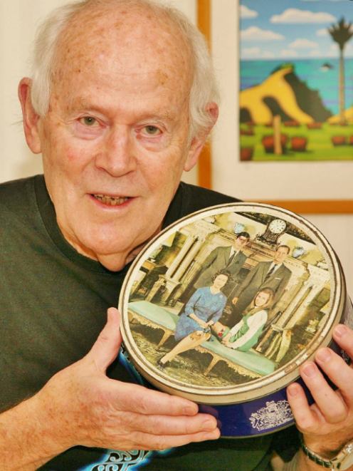 Kiwi photographer Bill Rowntree, who now lives in England, with his Royal family photo that was...