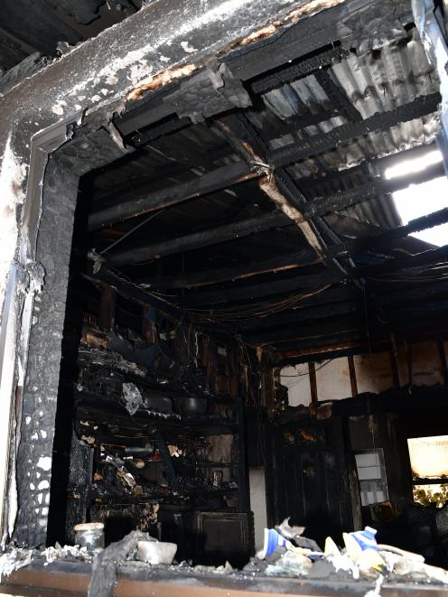 The Buitron family rental home was extensively damaged by fire on Tuesday.