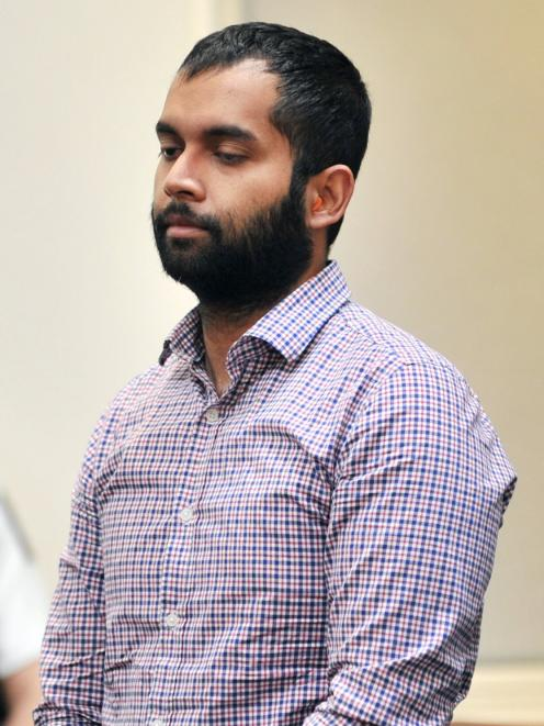 Venod Skantha at sentencing before the High Court at Dunedin in 2020. PHOTO: CHRISTINE O'CONNOR