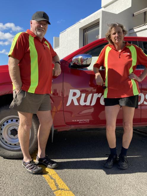 South Otago rural posties Richard and Jane Whitmore.PHOTO: MARY-JO TOHILL