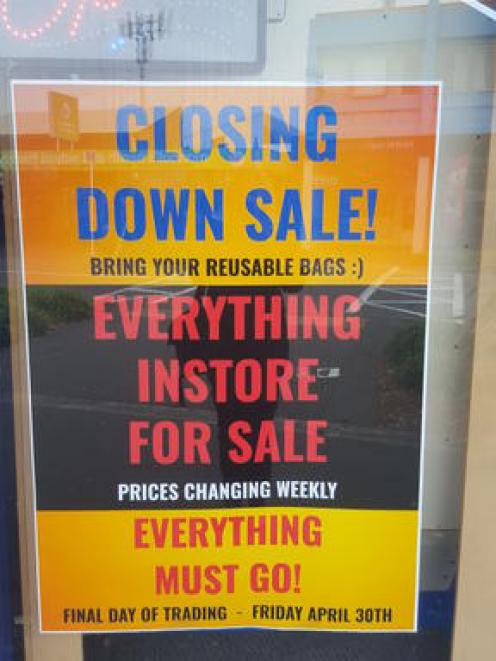The New Brighton United Video store is having a closing down sale. Photo: RNZ / Rachel Graham
