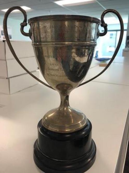 The Havilah Down Cup. Photo: NZ Hockey via RNZ