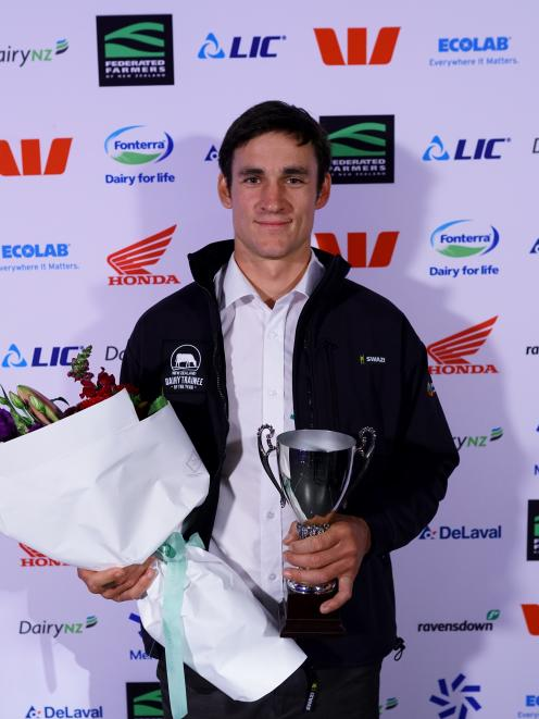 Mattes Groenendijk, of Rangiora, was surprised to win dairy trainee of the year in the 2021...