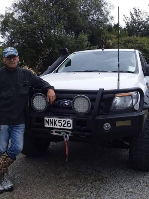 Russell Bryant with his Ford Ranger. Photo: Supplied
