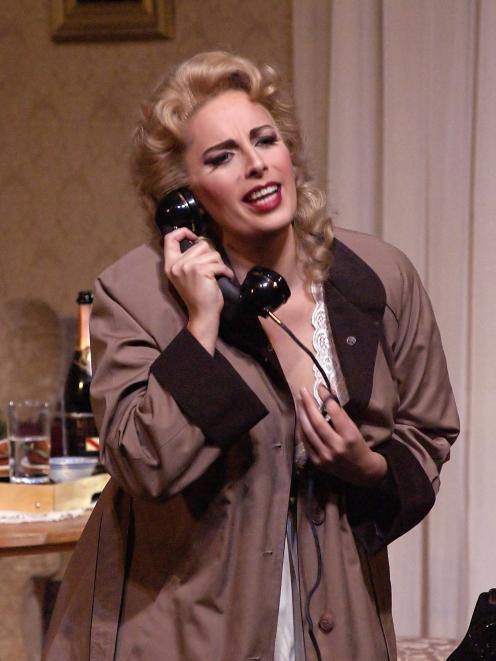 Amanda Atlas as Elle in Poulenc's La Voix Humaine (The Human Voice) with ...