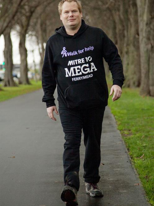 Stephen McPaike spent Wednesday walking around South Hagley Park for 24 hours to raise awareness...