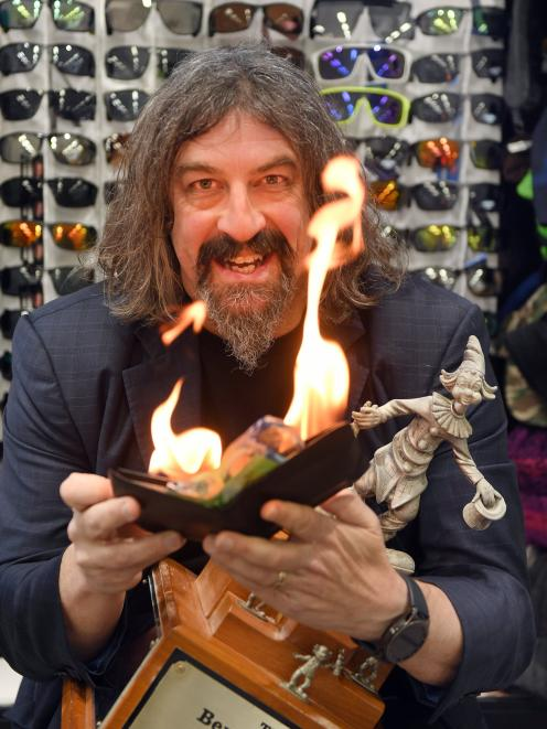 Dunedin man Jonathan Usher won three out of six major awards at a national magic convention....