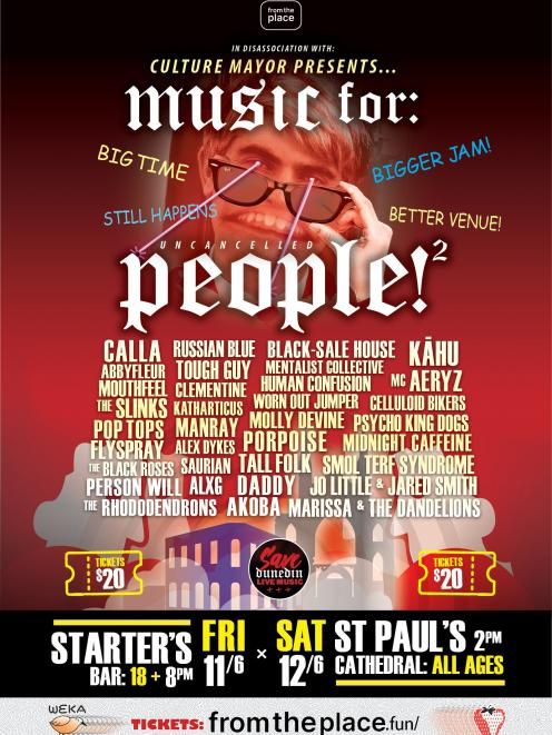 Music For People 2 features 32 bands over day days. IMAGE: SUPPLIED