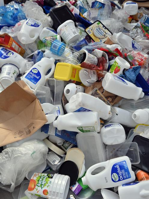The number five recycling bin Packit had at the Dunedin central New World collected a range of...