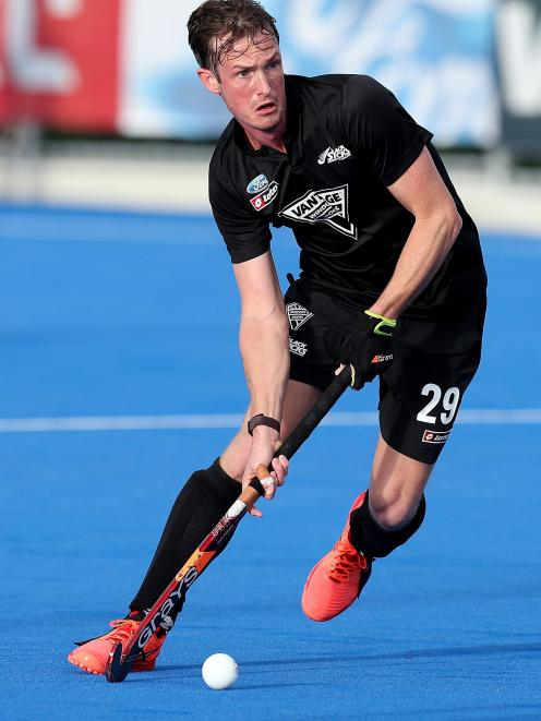 Hugo Inglis in action for the Black Sticks earlier this year.