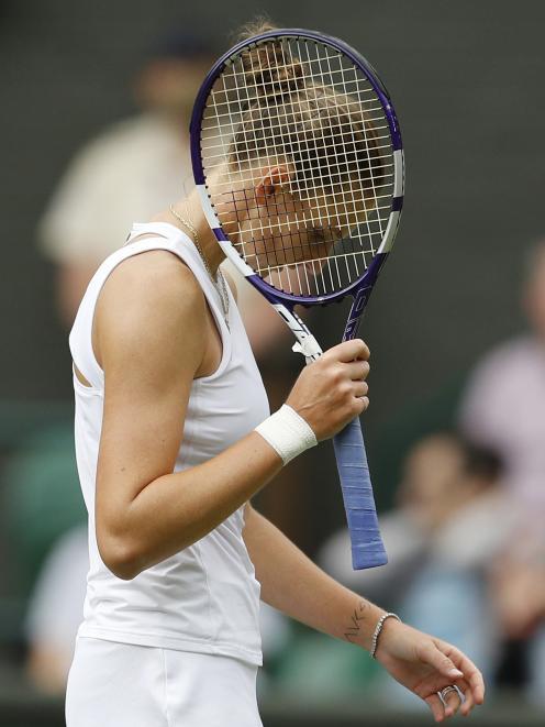 Czech Republic's Karolina Pliskova suffered one of the worst starts ever seen in a Wimbledon...