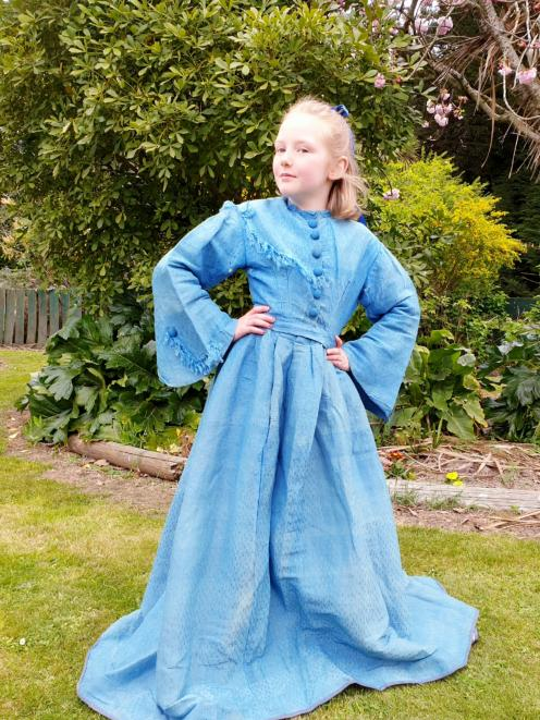 Amelia Brockhurst wears the wedding gown of her great-great-great-grandmother Sarah Hiley. It...