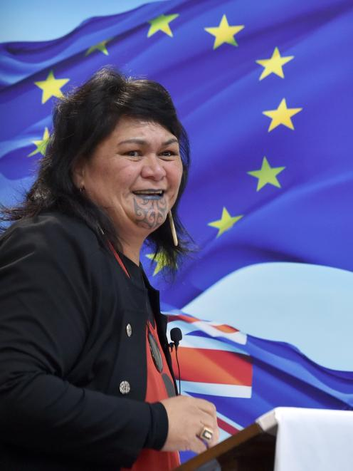 Foreign Affairs Minister Nanaia Mahuta speaks at the 55th Otago Foreign Policy School at St...