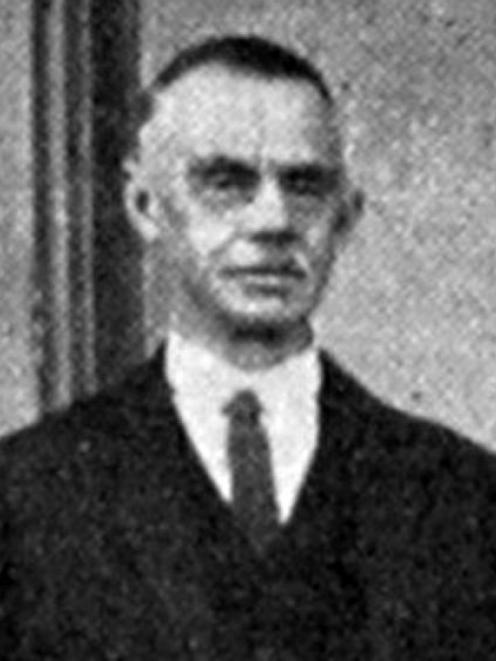 Minister of Agriculture William Nosworthy. — Otago Witness, 26.4.1921.