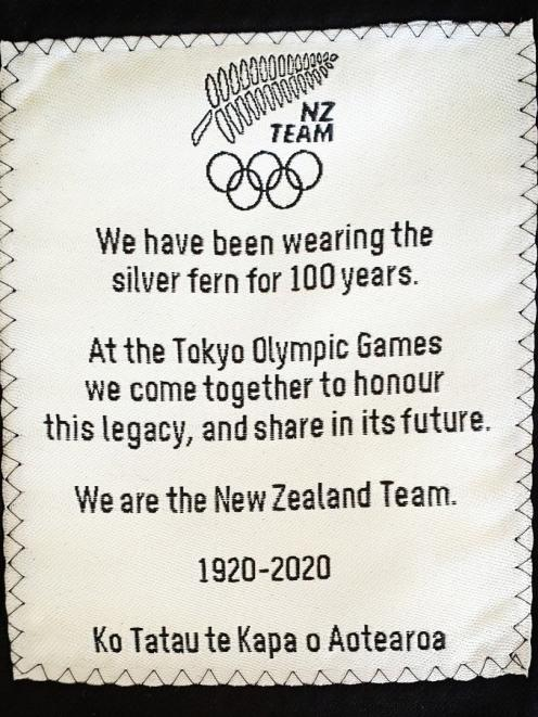 A special message is embroidered into the pockets of the jackets that will be worn by the New...