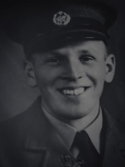 Ron Hermanns as a young airman in the New Zealand Territorial Air Force, 1937. Photo: Supplied /...