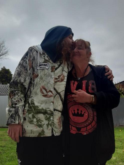 Kerin Buckingham and her son Shay Mattheou. Photo: Supplied