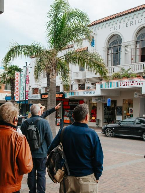 Napier Art Deco Trust guided walking tours. PHOTO: SUPPLIED