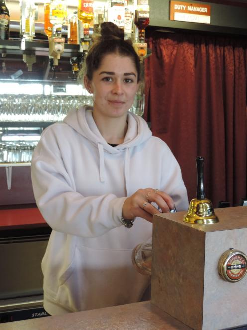 Maheno Tavern staff member Sophie Smith has been keeping busy since the premises reopened at the...