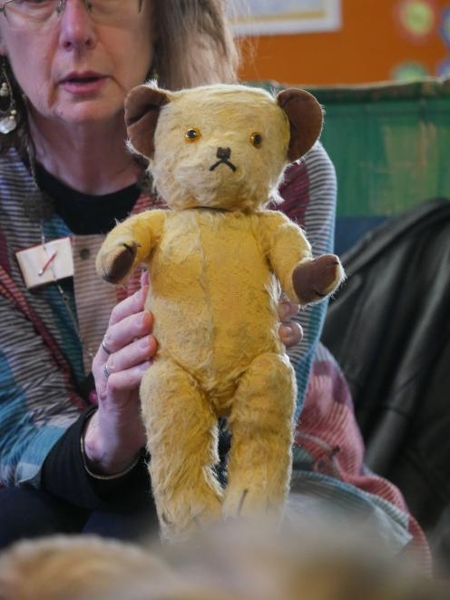 Jenny Powell's teddy bear was the subject of a poem she wrote with the help of Tainui School...