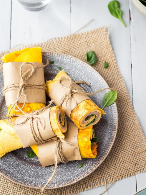 Tasty egg wraps