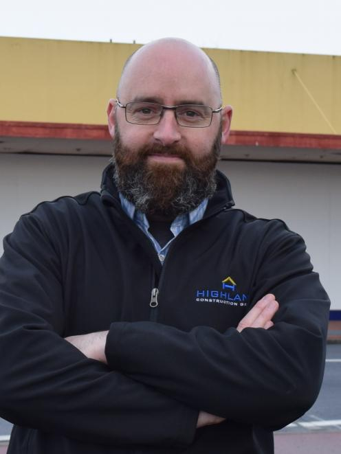 Highland Construction Group director Craig Davidson. PHOTO: SHAWN MCAVINUE