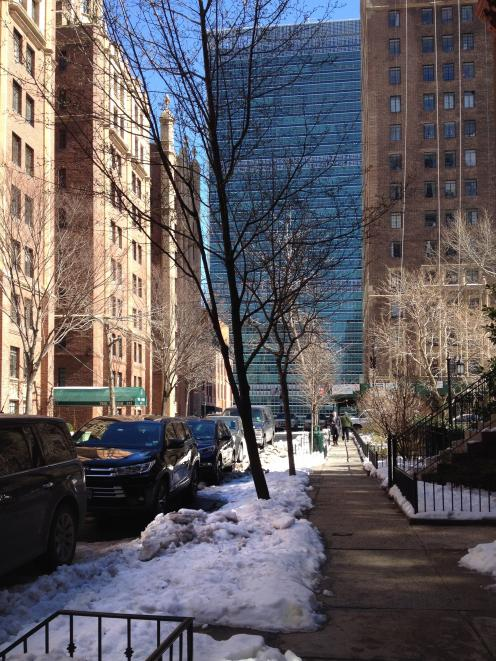 East 43rd St, looking towards the Secretariat Building. Photo: Helen Speirs