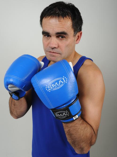 Preparing for a charity boxing match in 2012. Photo: supplied