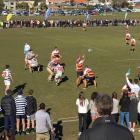 John McGlashan College plays Otago Boys High School s in a top-four playoff match at Bishopscourt...