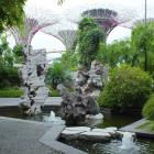 Rocks and water in the Chinese garden at Gardens by the Bay, Singapore. Photos: Gillian Vine.