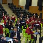 Pupils compete in a quickfire pop quiz while the overall results are tallied. Photos: Lynda van...