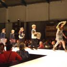 Modelling their own designs are (from left) Isobel and Charlotte McNeish, Jessica and Luke...