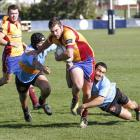 Shae Tucker playing for North Otago against Thames Valley at Whitestone Contracting Stadium...