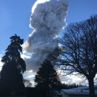 The cloud of smoke was seen clearly from Milton. Photo by Kara Whaley