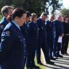 Balclutha police staff remember the fallen yesterday at the first Remembrance Day held in...