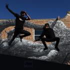 Brothers Josh (23) and Andrew (25) Cesan prepare for their Arts Festival Dunedin hip-