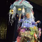 This elaborate outfit, designed and modelled by Gillian Shaw, was the culmination of about 200...